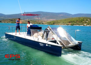 GRP Sea Surface Cleaning Boat
